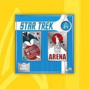 Pin Kings Star Trek Enamel Pin Badge Set 1.3 – Balance of Terror & Arena