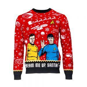 Official Star Trek 'Beam Me Up, Santa!' Christmas Jumper / Ugly Sweater