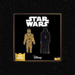 Pin Kings Star Wars Enamel Pin Badge Set 1.3 – C3PO and Darth Vader