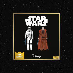 Pin Kings Star Wars Enamel Pin Badge Set 1.4 – Stormtrooper and Obi Wan