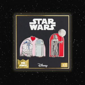 Pin Kings Star Wars Enamel Pin Badge Set 3.1 – R2D2 & Darth Vader