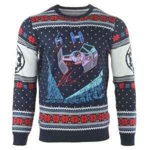Star Wars Tie Fighter Battle of Yavin Christmas Jumper / Ugly Sweater