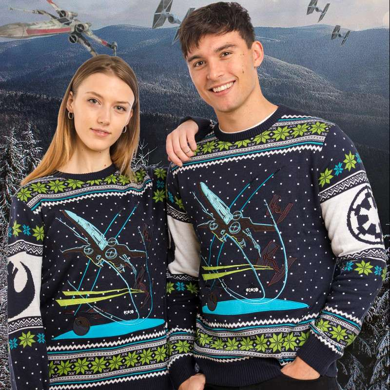 Star Wars X-Wing Battle of Yavin Christmas Jumper / Ugly Sweater