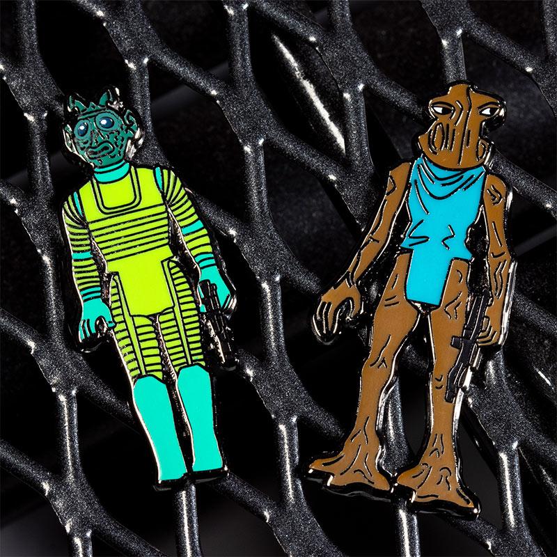 Pin Kings Star Wars Enamel Pin Badge Set 1.7 – Greedo and Hammerhead