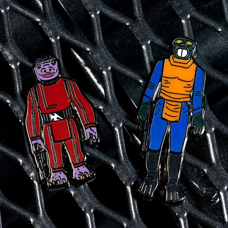 Pin Kings Star Wars Enamel Pin Badge Set 1.8 – Walrus Man and Snaggletooth