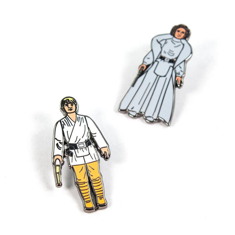 Pin Kings Star Wars Enamel Pin Badge Set 1.1 – Luke Skywalker and Princess Leia