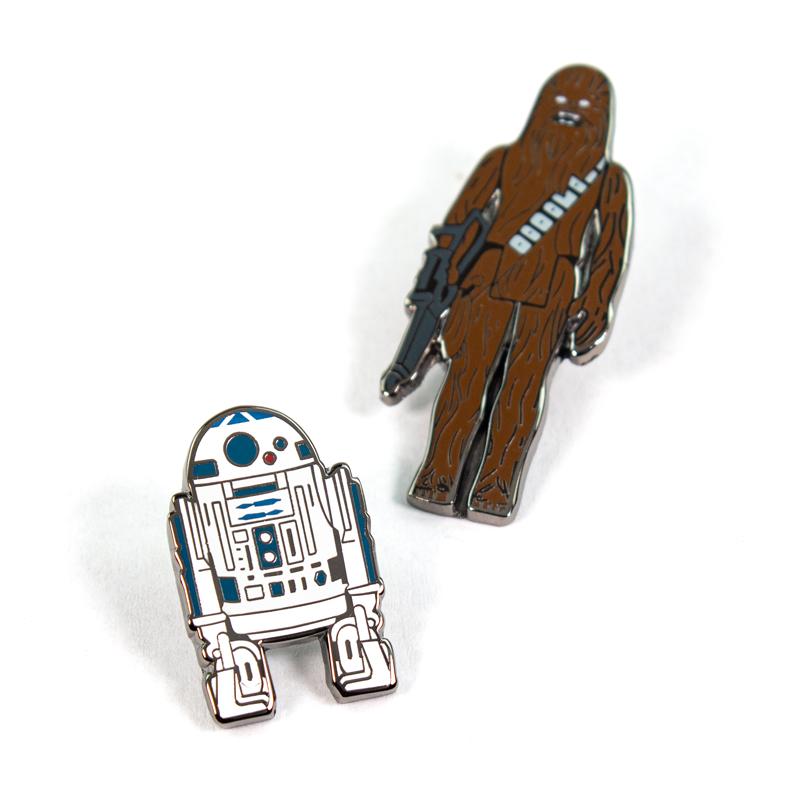 Pin Kings Star Wars Enamel Pin Badge Set 1.2 – R2D2 and Chewbacca