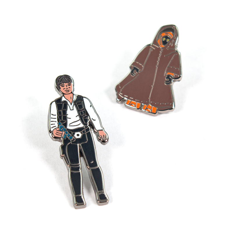 Pin Kings Star Wars Enamel Pin Badge Set 1.5 – Han Solo and Jawa
