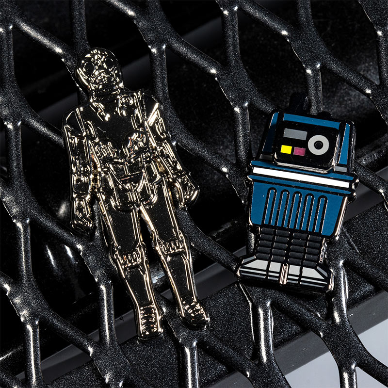 Pin Kings Star Wars Enamel Pin Badge Set 1.10 – Death Star Droid and Power Droid