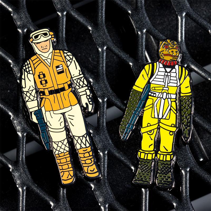 Pin Kings Star Wars Enamel Pin Badge Set 1.13 – Bossk and Rebel Soldier (Hoth Battle Gear)