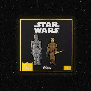Pin Kings Star Wars Enamel Pin Badge Set 1.14 – IG-88 and Luke Skywalker (Bespin Fatigues)