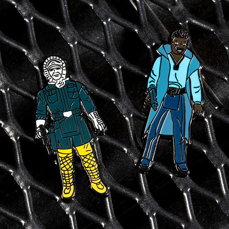 Pin Kings Star Wars Enamel Pin Badge Set 1.15 – Han Solo (Hoth Outfit) and Lando Calrissian