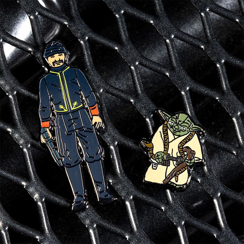 Pin Kings Star Wars Enamel Pin Badge Set 1.16 – Bespin Security Guard and Yoda