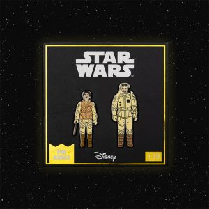 Pin Kings Star Wars Enamel Pin Badge Set 1.19 – Leia (Hoth Outfit) and Rebel Commander