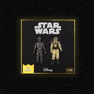 Pin Kings Star Wars Enamel Pin Badge Set 1.22 – C-3PO and Luke Skywalker (Hoth Battle Gear)