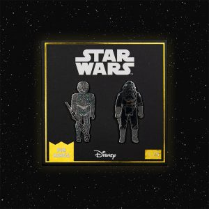 Pin Kings Star Wars Enamel Pin Badge Set 1.25 – 4-LOM and Imperial Tie Fighter Pilot