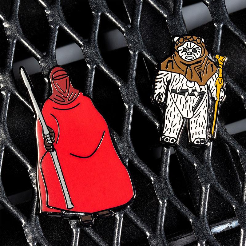 Pin Kings Star Wars Enamel Pin Badge Set 1.28 – Emperor's Royal Guard and Chief Chirpa