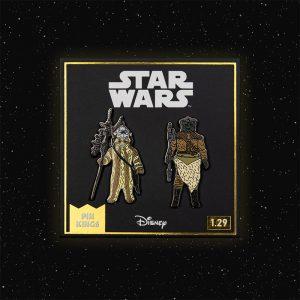 Pin Kings Star Wars Enamel Pin Badge Set 1.29 – Logray (Ewok Medicine Man) and Klaatu