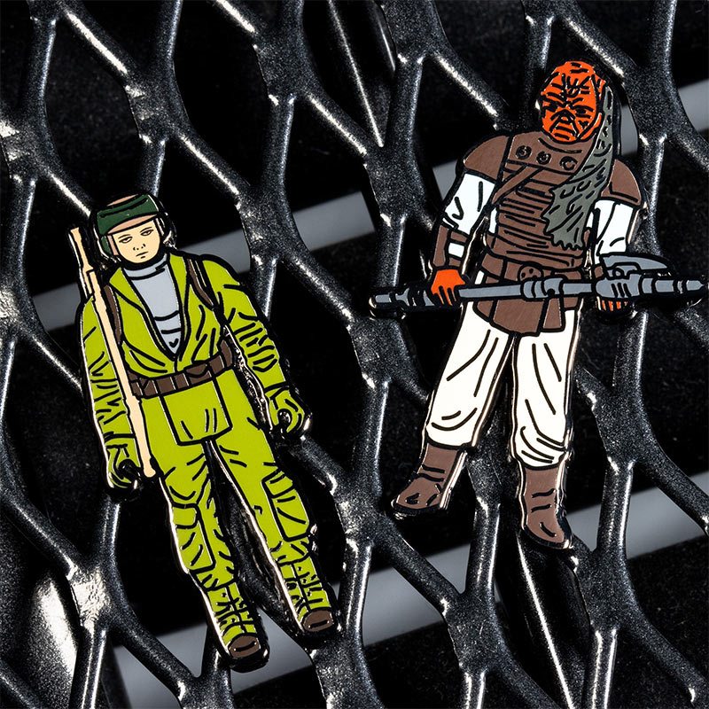 Pin Kings Star Wars Enamel Pin Badge Set 1.30 – Rebel Commando and Weequay