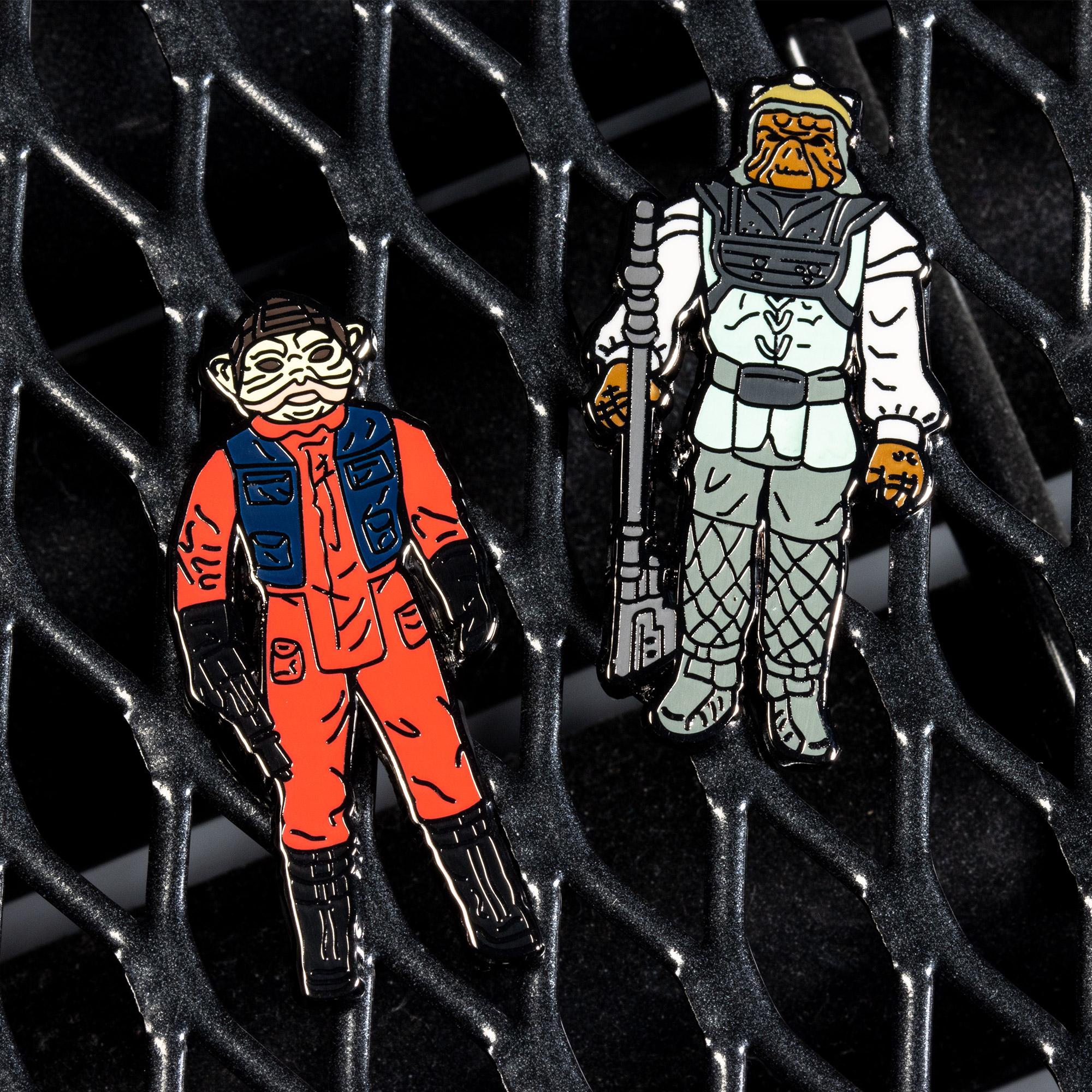 Pin Kings Star Wars Enamel Pin Badge Set 1.34 – Nien Nunb and Nikto