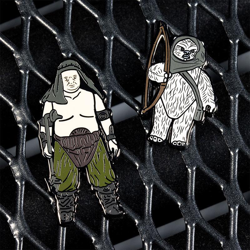Pin Kings Star Wars Enamel Pin Badge Set 1.40 – Rancor Keeper and Lumat