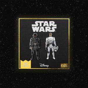 Pin Kings Star Wars Enamel Pin Badge Set 1.44 – Imperial Gunner and Luke Skywalker (Imperial Stormtrooper Outfit)