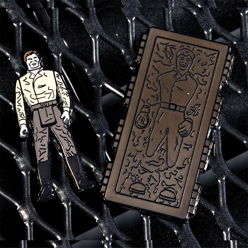Pin Kings Star Wars Enamel Pin Badge Set 1.45 – Han Solo and Han Solo (In Carbonite Chamber)