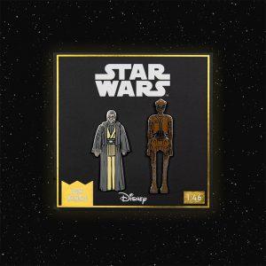Pin Kings Star Wars Enamel Pin Badge Set 1.46 – Old Anakin Skywalker and EV-9D9