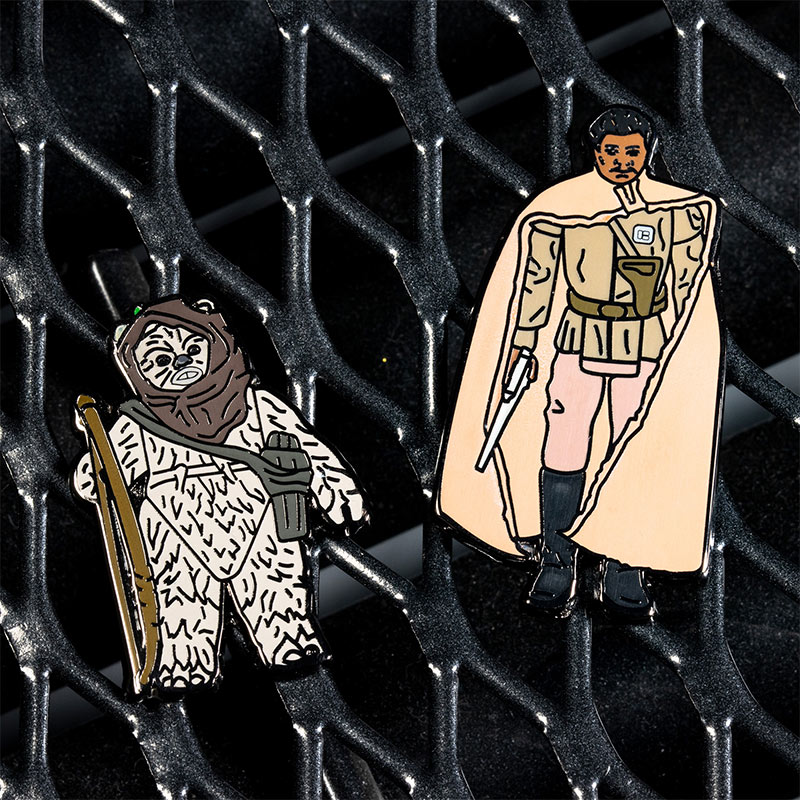 Pin Kings Star Wars Enamel Pin Badge Set 1.47 – Warok and Lando Calrissian (General Pilot)