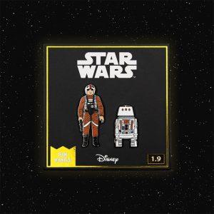 Pin Kings Star Wars Enamel Pin Badge Set 1.9 – Luke Skywalker: X Wing Pilot and R5 D4
