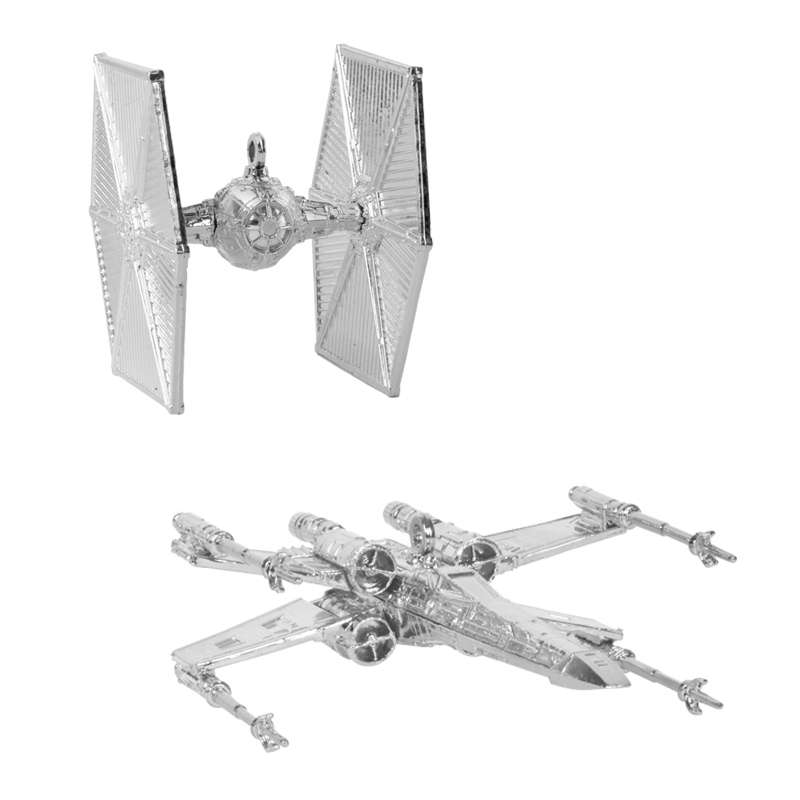 Star Wars Christmas Tree Decorations / Ornaments (Silver)