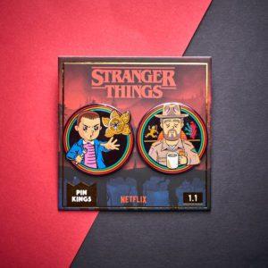 Pin Kings Stranger Things Enamel Pin Badge Set 1.1 – Eleven and Jim