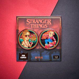 Pin Kings Stranger Things Enamel Pin Badge Set 1.2 – Billy and Max