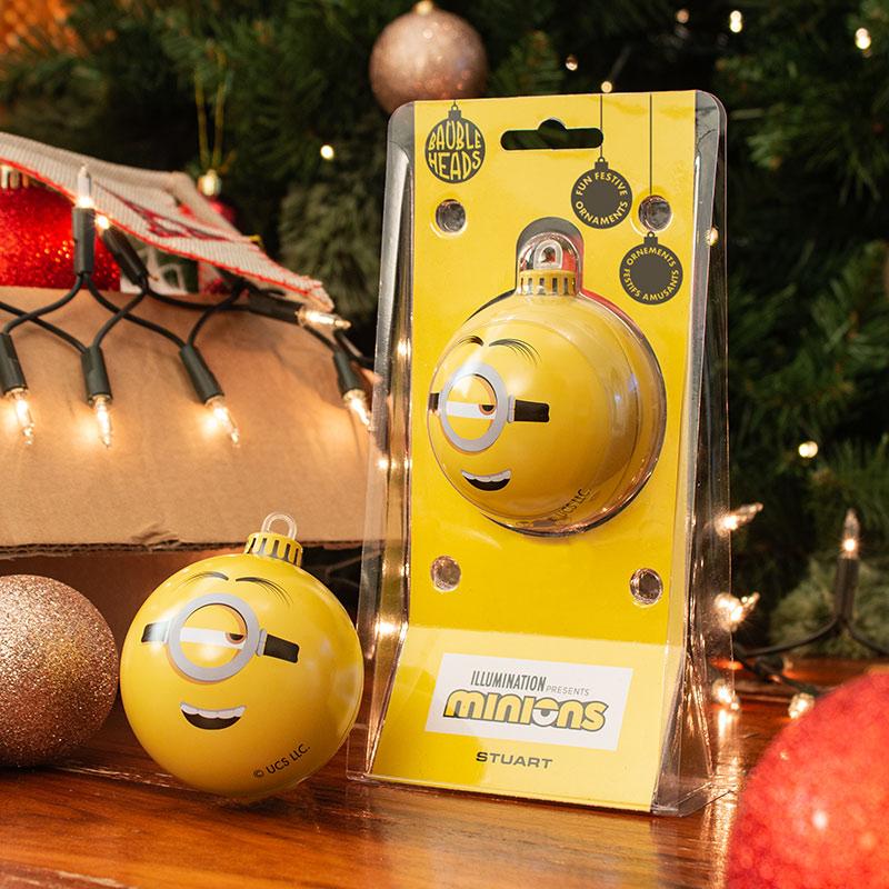Bauble Heads Minions 'Stuart' Christmas Decoration / Ornament