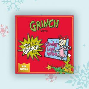 Pin Kings The Grinch Enamel Pin Badge Set 1.3