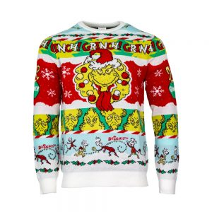 Official The Grinch 'Merry Grinchmas' Christmas Jumper / Ugly Sweater