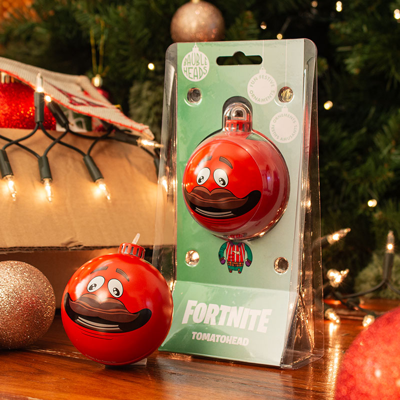 Bauble Heads Fortnite 'Tomatohead' Christmas Decoration / Ornament