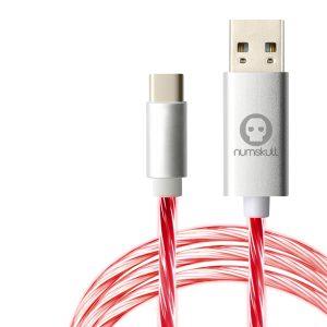 Numskull Nintendo Switch LED Flow USB C Cable (Nintendo Switch, PS5, Xbox Series X and Series S)