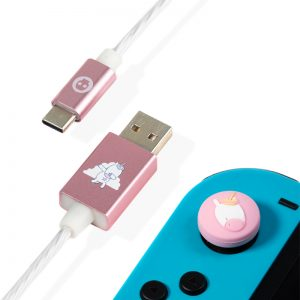 Numskull Unicorn USB C LED Charge Cable & Thumb Grips (Xbox Series X & Series S, PS5 and Nintendo Switch)