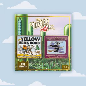 Pin Kings Wizard of Oz Enamel Pin Badge Set 1.1 – Yellow Brick Road & Wicked Witch