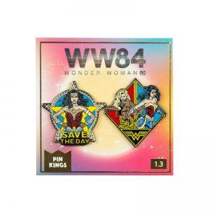 Pin Kings Wonder Woman '84  Enamel Pin Badge Set 1.3 – Save The Day