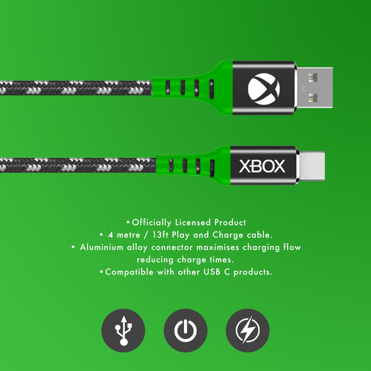 Xbox Play and Charge USB C Charging Cable