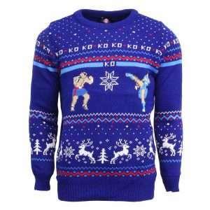 Street Fighter Sagat Vs. Chun Li Christmas Jumper / Ugly Sweater