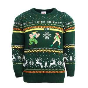 Street Fighter Guile Vs. Cammy Christmas Jumper / Ugly Sweater