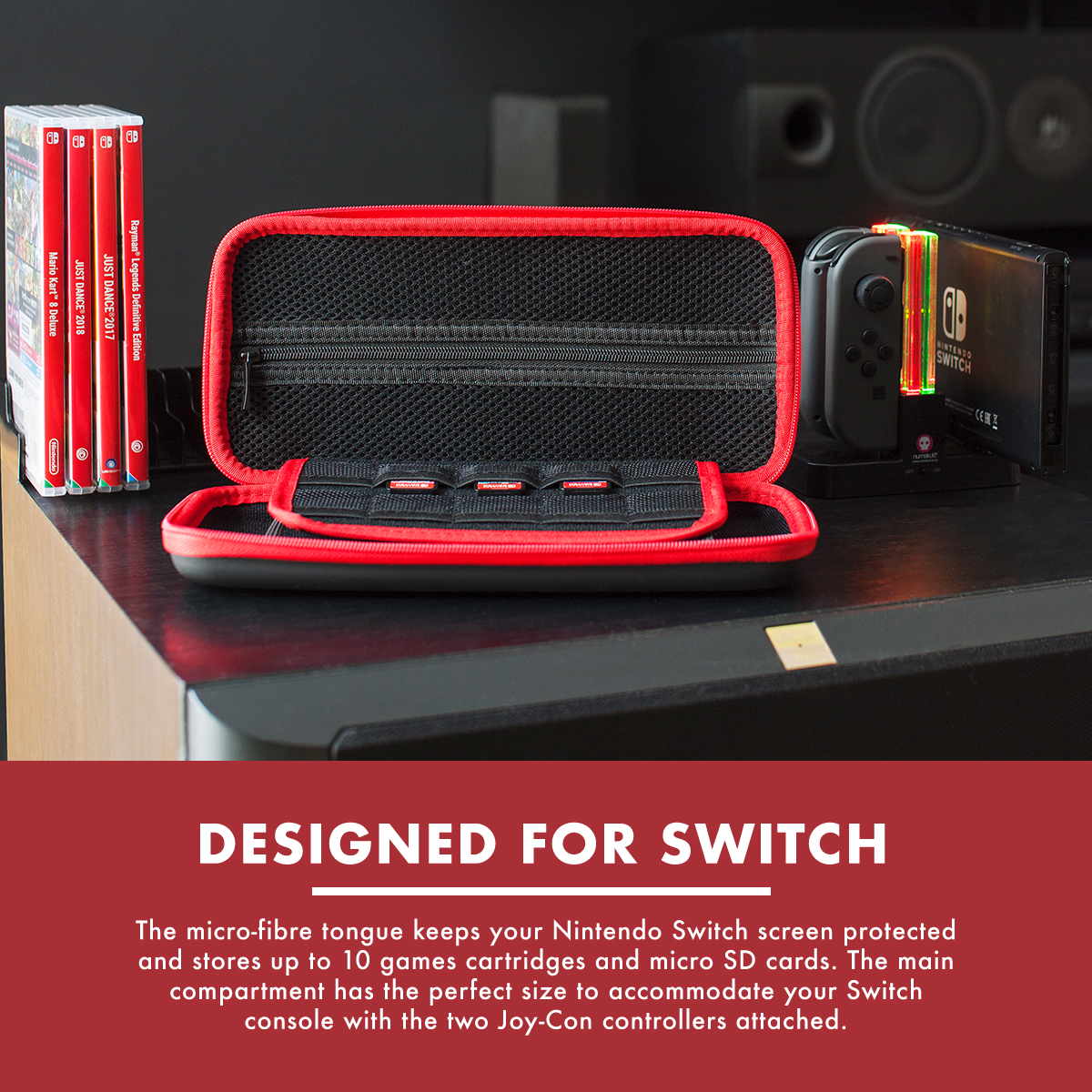 Numskull Nintendo Switch Hard Shell Carry Case