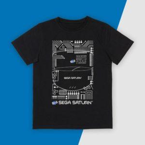 Official SEGA Saturn Black T-Shirt (Unisex)