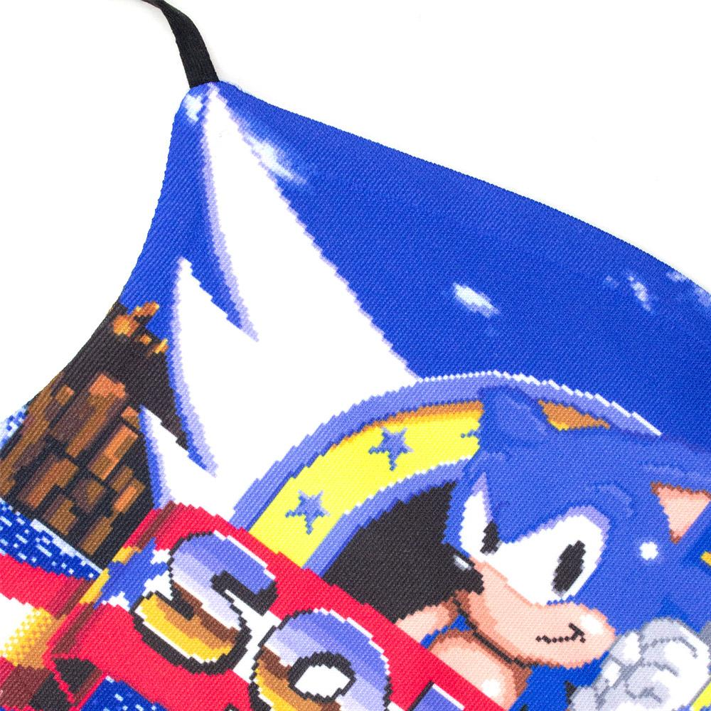 Official SEGA Sonic the Hedgehog Retro Logo Face Mask