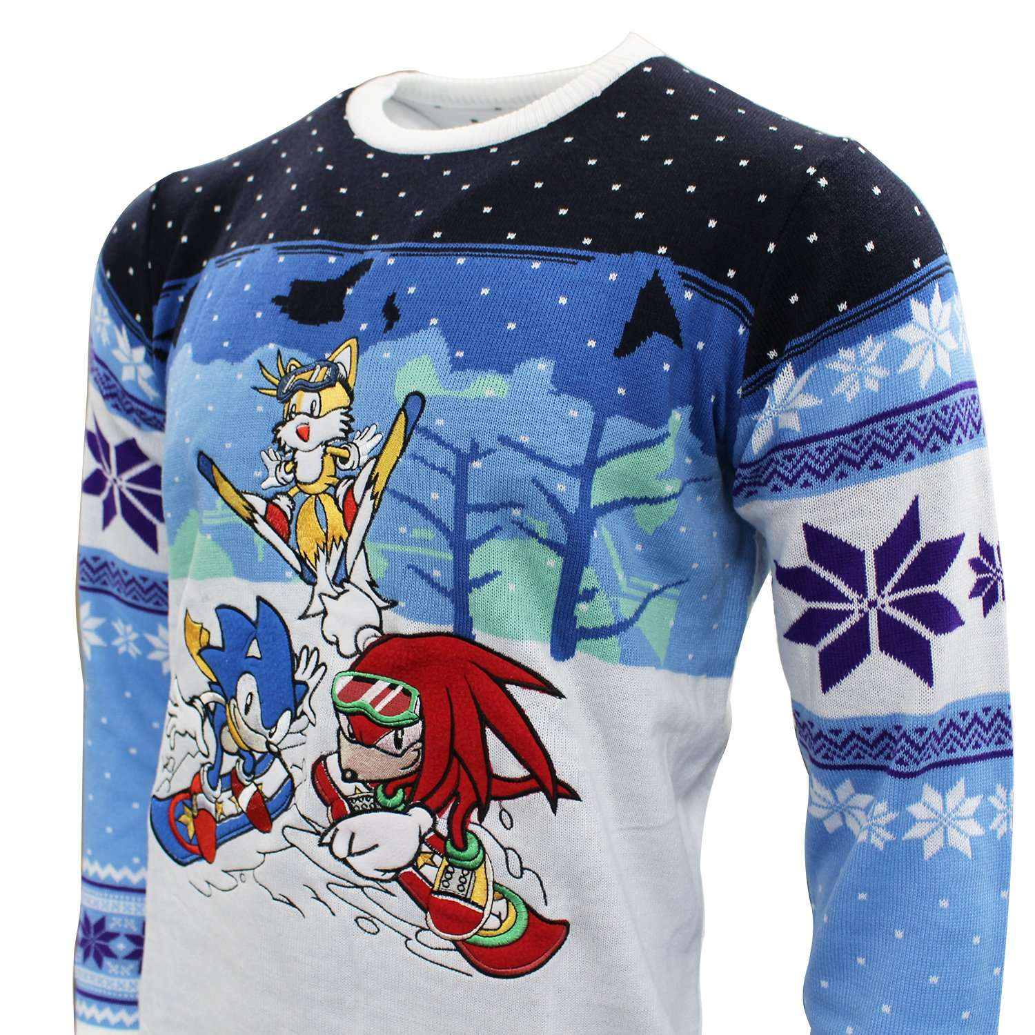 Sonic The Hedgehog Skiing Christmas Jumper / Ugly Sweater