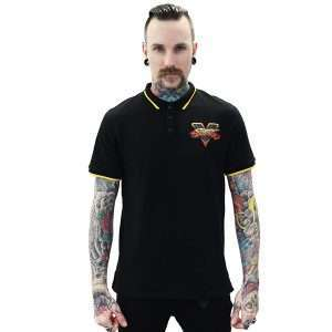 Street Fighter Black Polo Shirt