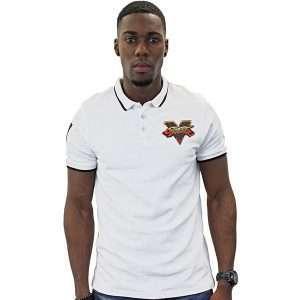 Street Fighter White Polo Shirt